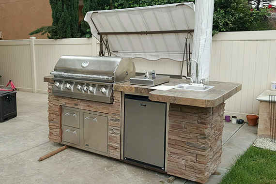Diy Bbq Gas Grills And Outdoor Kitchen Frame Kits